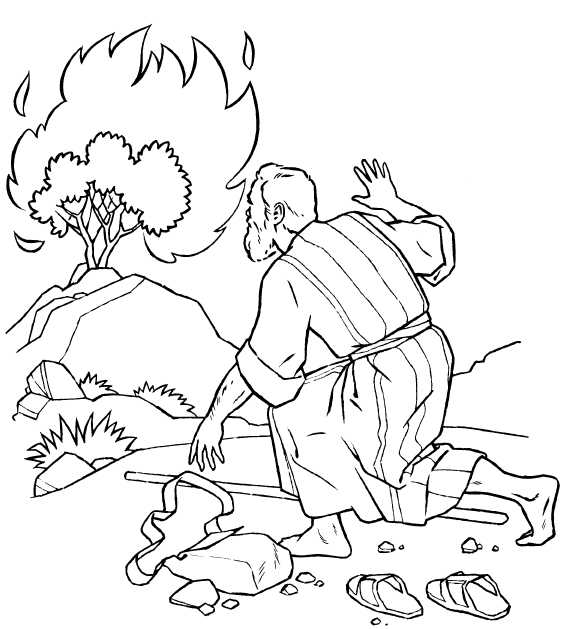 coloring pages of burning bush - photo#4
